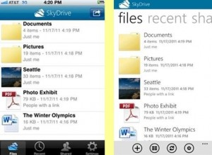 Microsoft Launches SkyDrive App For iPhone & Windows Phone