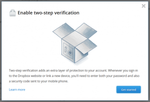 New Two-Step Verification Feature of Dropbox
