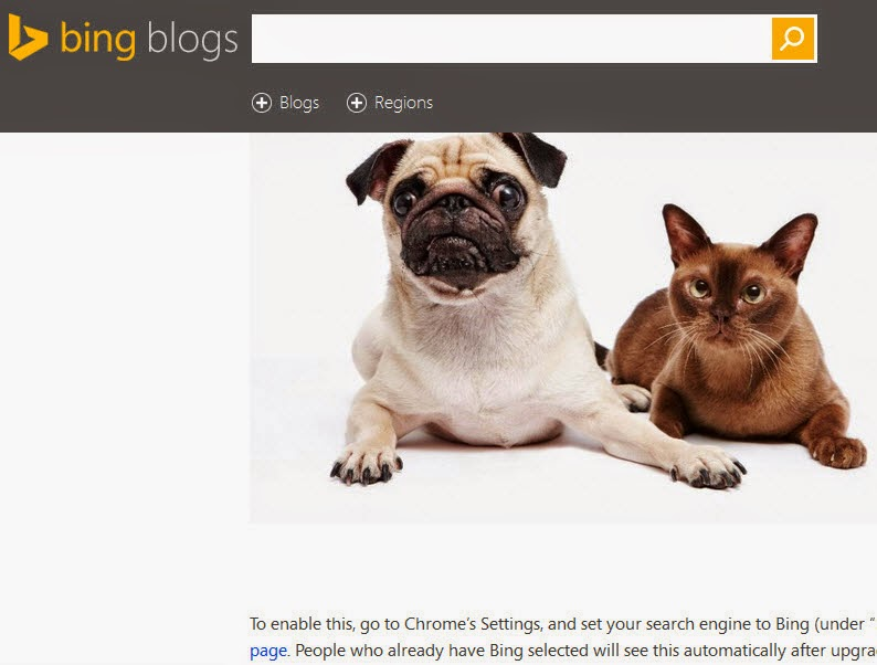 Replace Google with Bing on your New Tab page