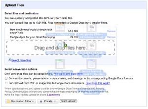 Google Docs Gets Drag-and-Drop Uploads