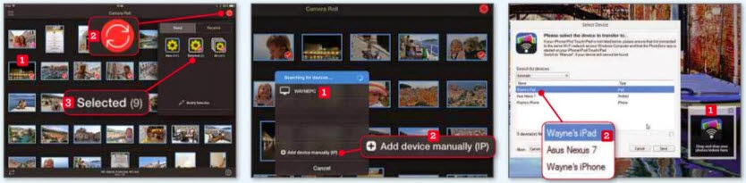 Transfer photos between devices using PhotoSync