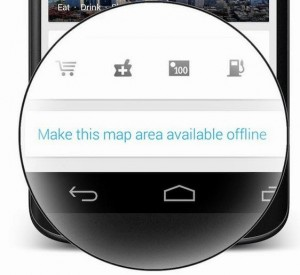 Save Google Maps to use offline on your mobile device