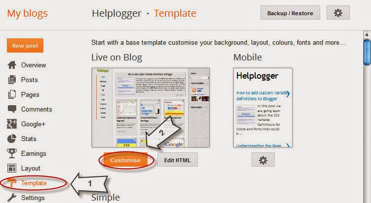 Adding css via the blogger template designer cloud media for Blogger post template code