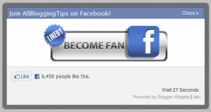 How to Add Facebook LikeBox Popup To Blogger