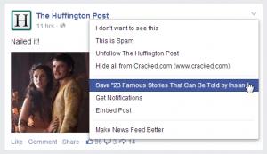 Facebook Bookmark Posts: Saving – Viewing Posts On The Web, iOS & Android