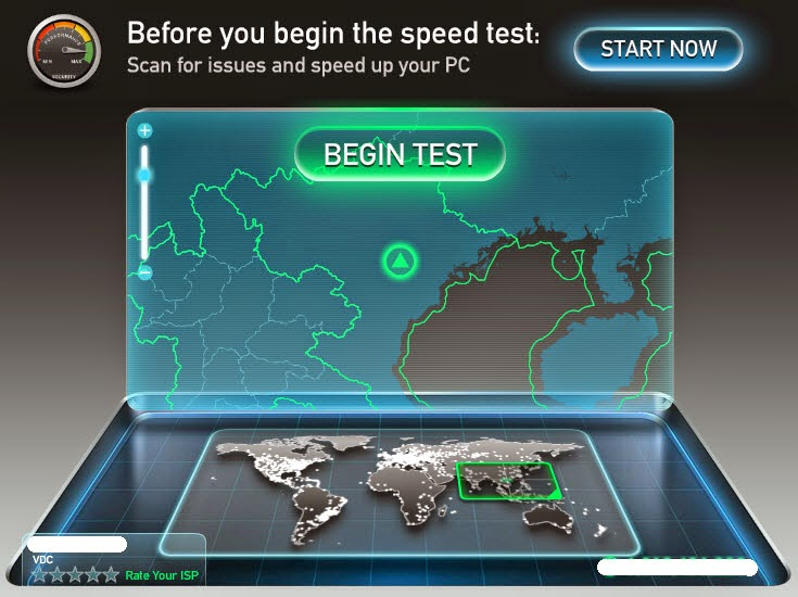 Measure your broadband speed using Speedtest.net