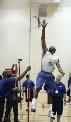 John Wall testing his vertical at the NBA combine