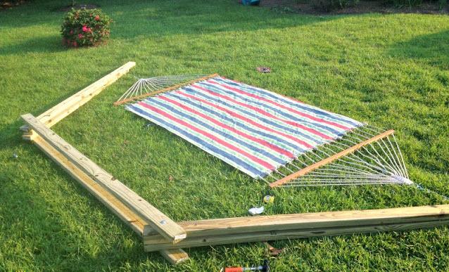 diy wood hammock stand