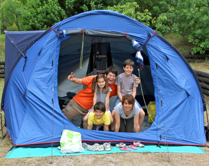 planning your first family camping trip
